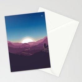 Awesome Minimal Fairytale Animal Sunset Countryside UHD Stationery Cards