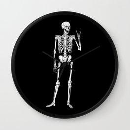 Rock Star Skeleton Wall Clock