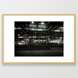 Today, I Love You Framed Art Print