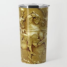 Ancient Bactrian gold coin Travel Mug