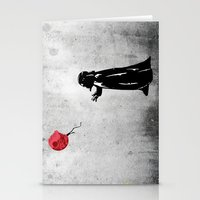 banksy Stationery Cards featuring Little Vader - Inspired by Banksy by kamonkey