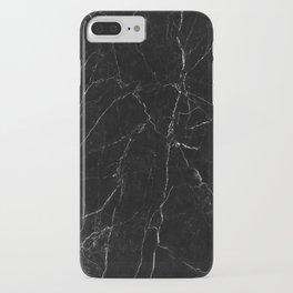 Black Marble Print iPhone Case