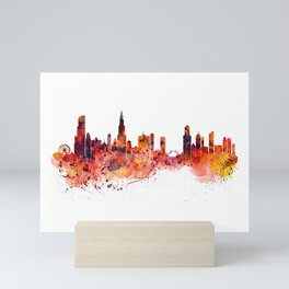 Chicago Watercolor Skyline Mini Art Print