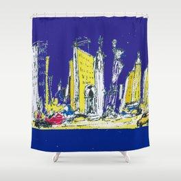NEW YORK    by Kay Lipton Shower Curtain