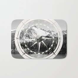 Mountain and Compass Bath Mat