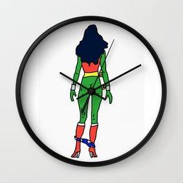 Wonder Butt - Alien Green Xmas Ass - Feminism Wall Clock