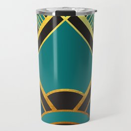 Art Deco New Tomorrow In Turquoise Travel Mug