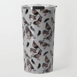 Pigeon Pattern 2 Travel Mug