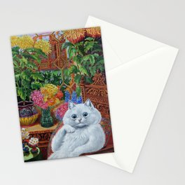 """""""Master of Cat College"""" by Louis Wain Stationery Cards"""