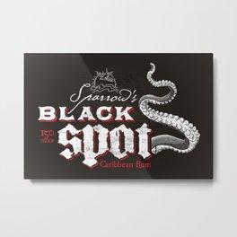 Sparrow's Black Spot Rum Metal Print