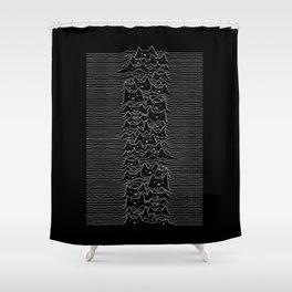 Joy Division Unknown Pleasures Shower Curtain