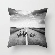 Ride on Throw Pillow