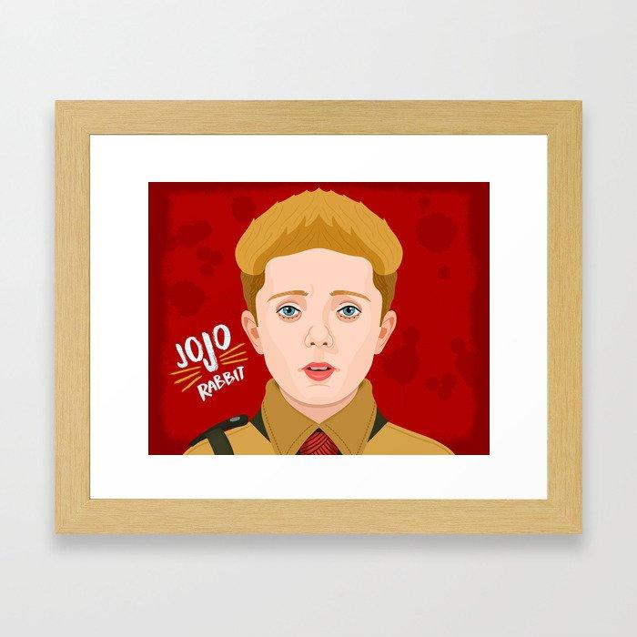 JoJo Rabbit Framed Art Print