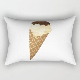 Chocolate and vanilla Ice Cream Cone Treat Rectangular Pillow