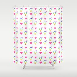 heart and transgender 2 Shower Curtain