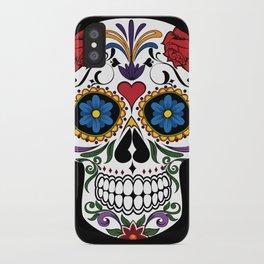Colorful Sugar Skull iPhone Case