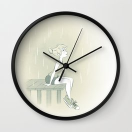 Summer rain Wall Clock