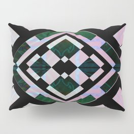 Pearlescent Retro Geometric Tile Abstract Mandala Pillow Sham