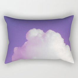 Big Fluffy Cloud Against a Purple Sky, Beautiful Cloud and Beautiful Sky Rectangular Pillow