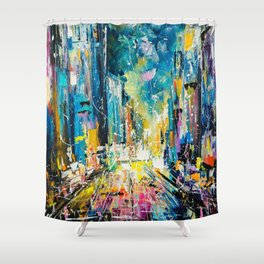 Evening on fifth avenue Shower Curtain