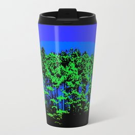 Mod Trees Blue & Green Travel Mug