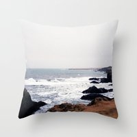 iceland Throw Pillows featuring Iceland by Ninja Reith