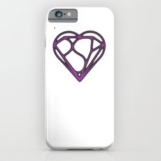 Psy Z Heart, Mind + Shield, Aged Purple iPhone 6s Slim Case