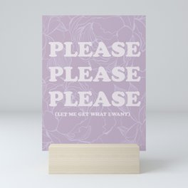 The Best of (Please, let me get what I want-The Smiths) Mini Art Print