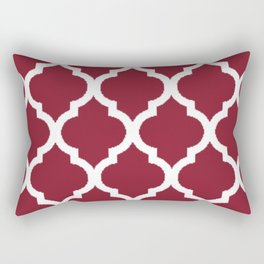 Antique Ruby with White Quatrefoil Pattern Rectangular Pillow
