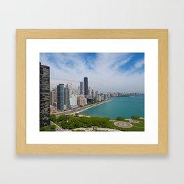 Chicago Aerial 2, 2018 Framed Art Print