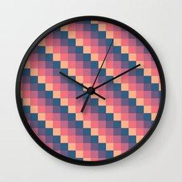Descending Square Pattern Wall Clock