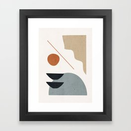 Abstract Minimal Shapes 29 Framed Art Print