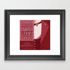 Grand Budapest Hotel - Monsieur Martin Framed Art Print