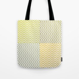 Geometric Lines Pattern Yellowish Tote Bag