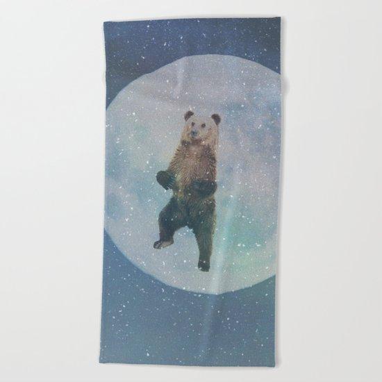 Bear Moon Beach Towel