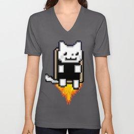 JetPack Kitty Attack Unisex V-Neck