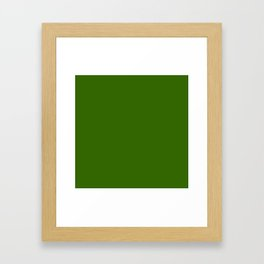 Simply Dark Green Framed Art Print
