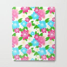 04 Pattern of Watercolor Flowers Metal Print