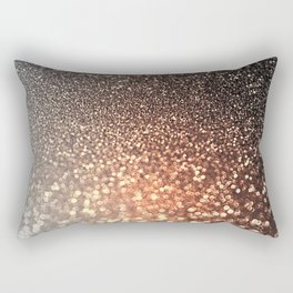 Tortilla brown Glitter effect - Sparkle and Glamour Rectangular Pillow