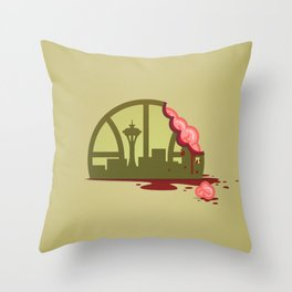 Zombie Sonics Throw Pillow