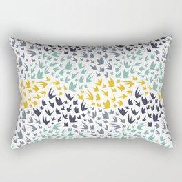 Abstract Flying Birds Rectangular Pillow