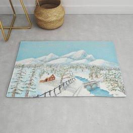 Snowy Hill - 3 Rug
