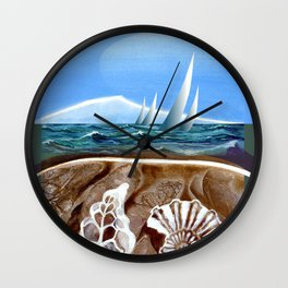 The Geology of Boating Wall Clock