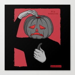 Pumpkin guy Canvas Print