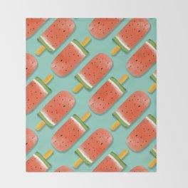Watermelon Popsicles Pattern #society6 #decor #buyart Throw Blanket