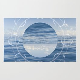 Reflected Ocean Sacred Geometry Rug