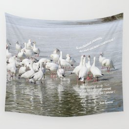 Les Oies Blanches : Si On Chantait - The White Geese : If We Sing Wall Tapestry