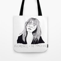florence Tote Bags featuring Florence by ☿ cactei ☿