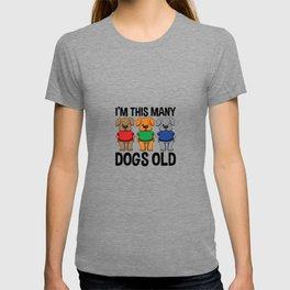 I'm This Many Dogs Old 3 Yr Boy Girl Birthday Idea T-shirt