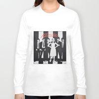 blondie Long Sleeve T-shirts featuring Blondie Stencil by Michellehill